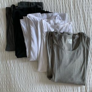 Lot of 5 thermal scoop neck shirts